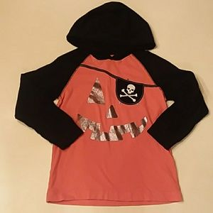 Gymboree long sleeve hooded Halloween shirt 6